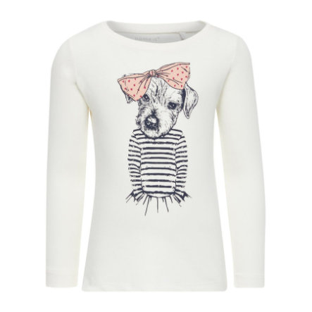 name it Girl s Sweatshirt Veen śnieżnobiały