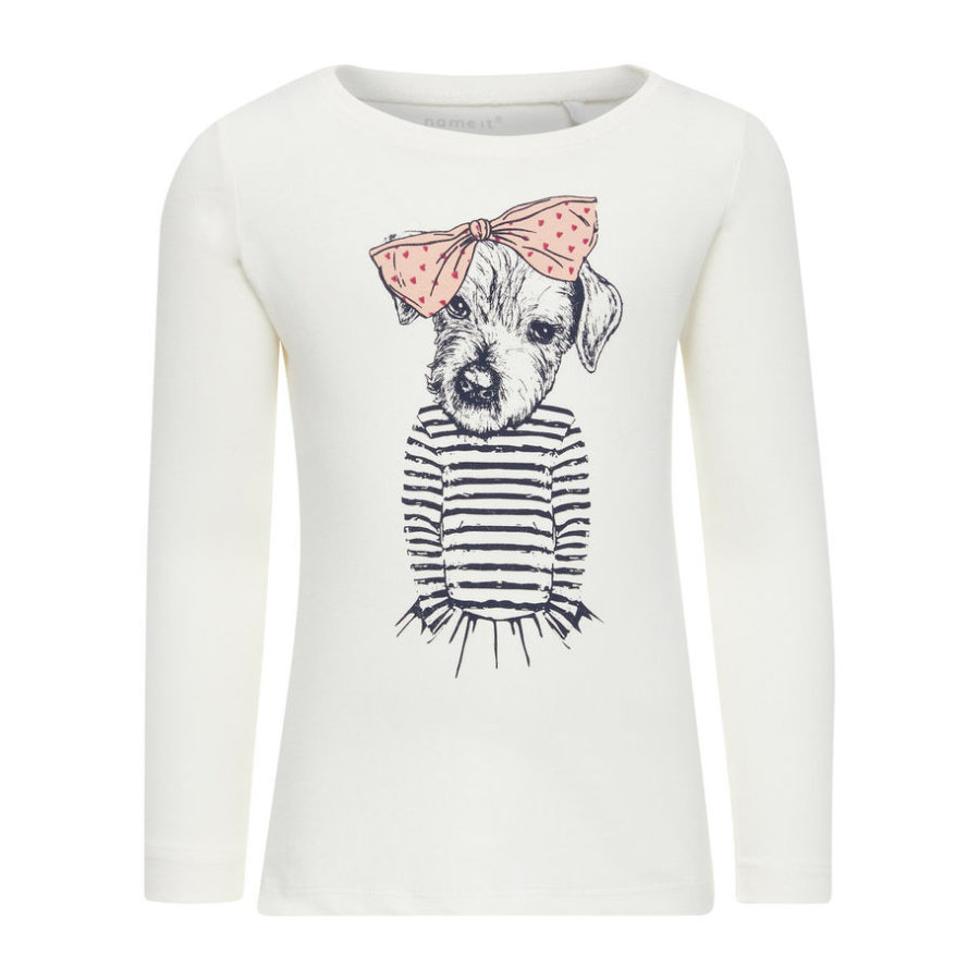 name it Girl s Sweatshirt Veen sneeuwwitte Veen