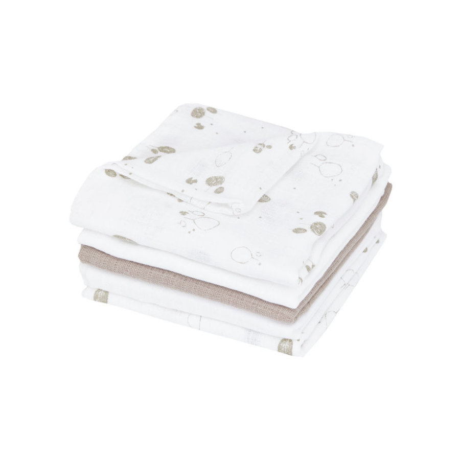 name it Mulltücher Napsies 5er-Pack bright white 70 x 70 cm