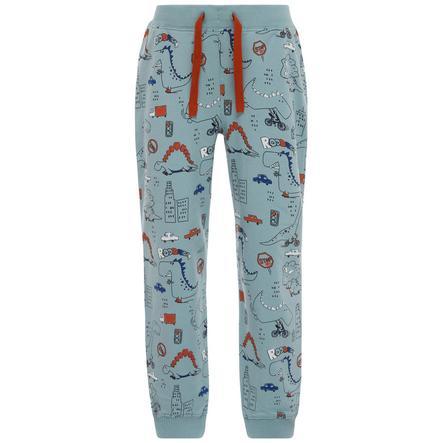 name it Boys Pantalones de chándal azul piedra