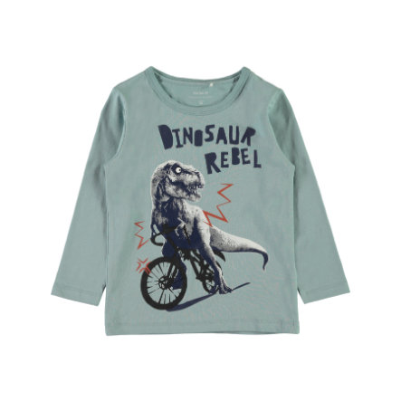 name it Girls Langarmshirt Etbike stone blue