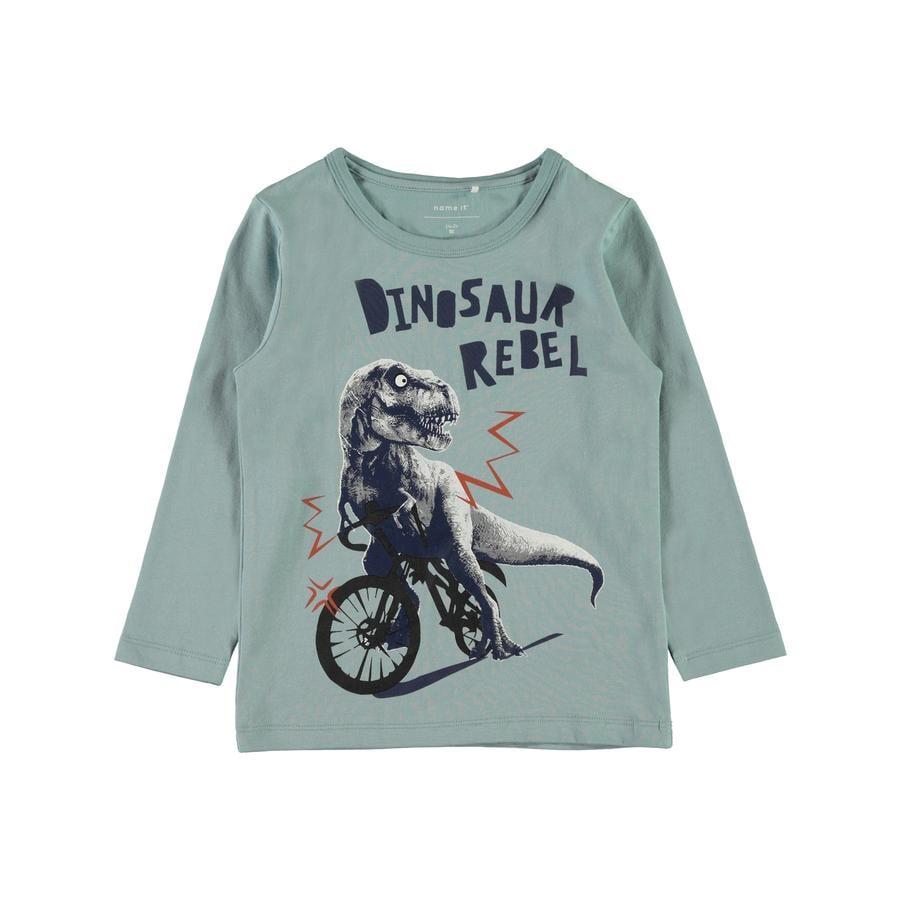 name it Girl koszula z długim rękawem Etbike stone blue