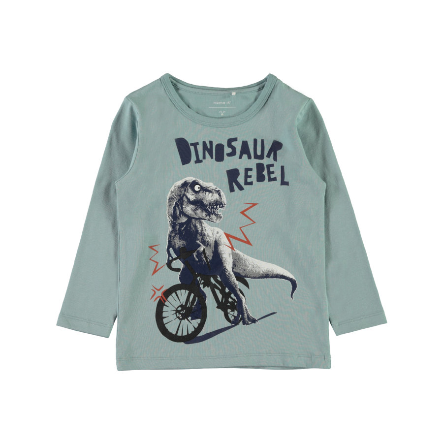 name it Girl s camisa de manga larga Etbike stone blue