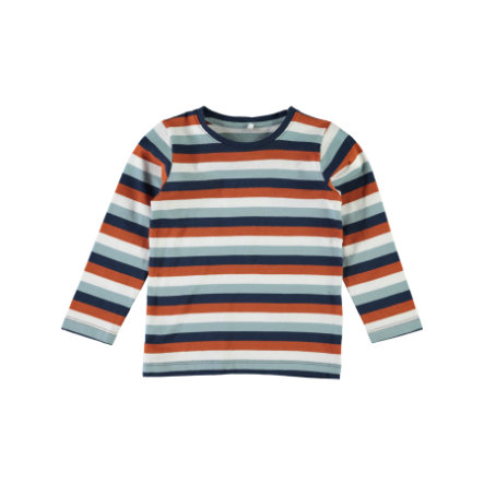 name it Boys Victor Langarmshirt stone blue