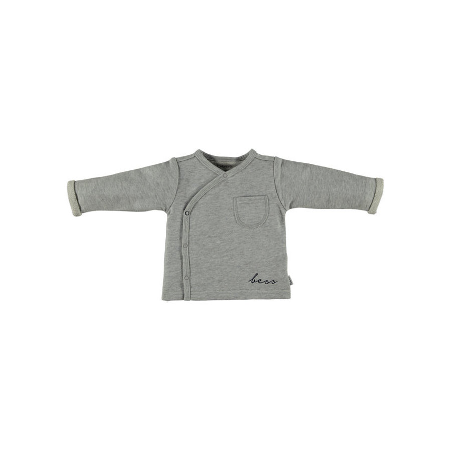 b.e.s.s Langarmshirt Turn-Over Grey