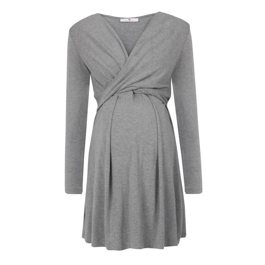 bellybutton těhotenské stylové šaty ALINA, tmavě šedé, 2018