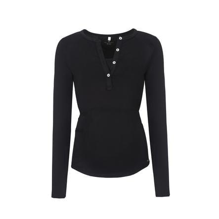 bellybutton T-shirt d'allaitement manches longues Julia, noir