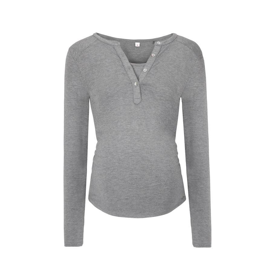 bellybutton T-shirt d'allaitement manches longues Julia, gris
