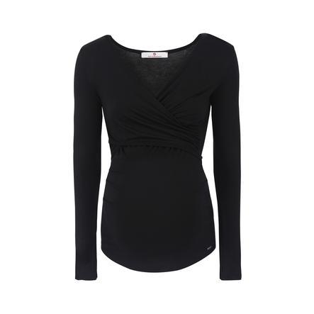 bellybutton T-shirt d'allaitement manches longues Laila, noir