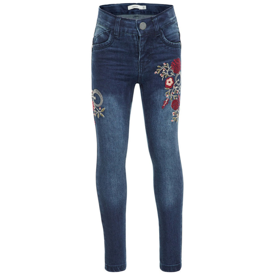 name it Girl s Jeans Bawait, ciemnoniebieski denim.