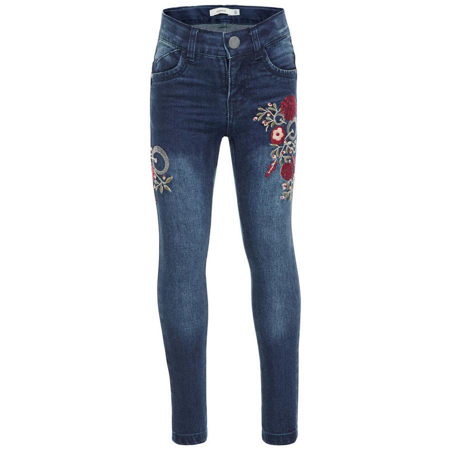 name it Girls Jeans Bawait dark blue denim