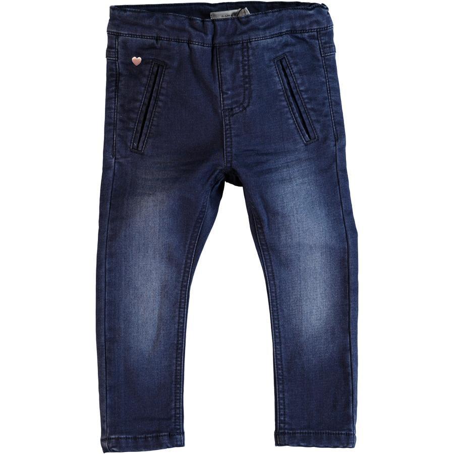 name it Girl s Jeans Bawait, ciemnoniebieski denim.