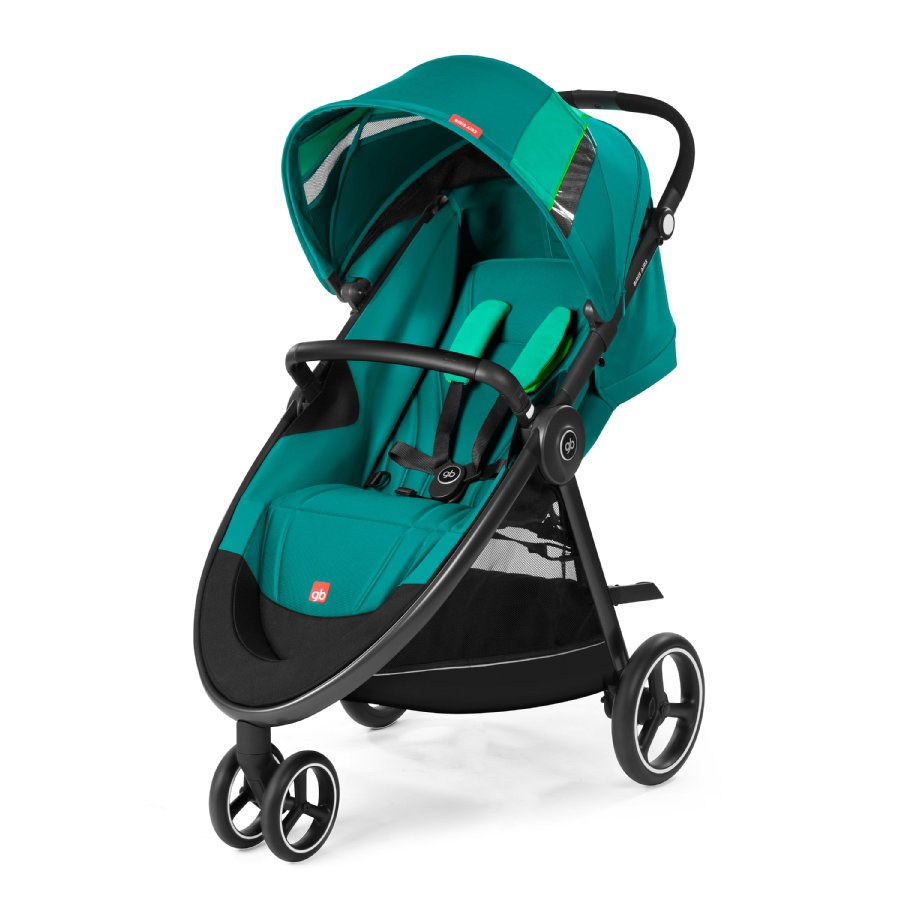 gb GOLD Kinderwagen Biris Air3 Laguna Blue-turquoise