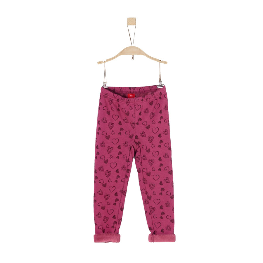 s.Oliver Girls Leggings dark pink