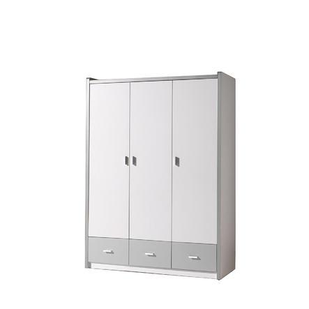 VIPACK Kleiderschrank 3-türig Bonny 09 weiß silbergrau
