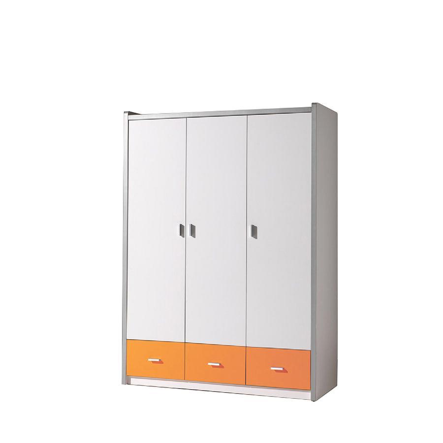 VIPACK Kleiderschrank 3-türig Bonny 11 weiß orange