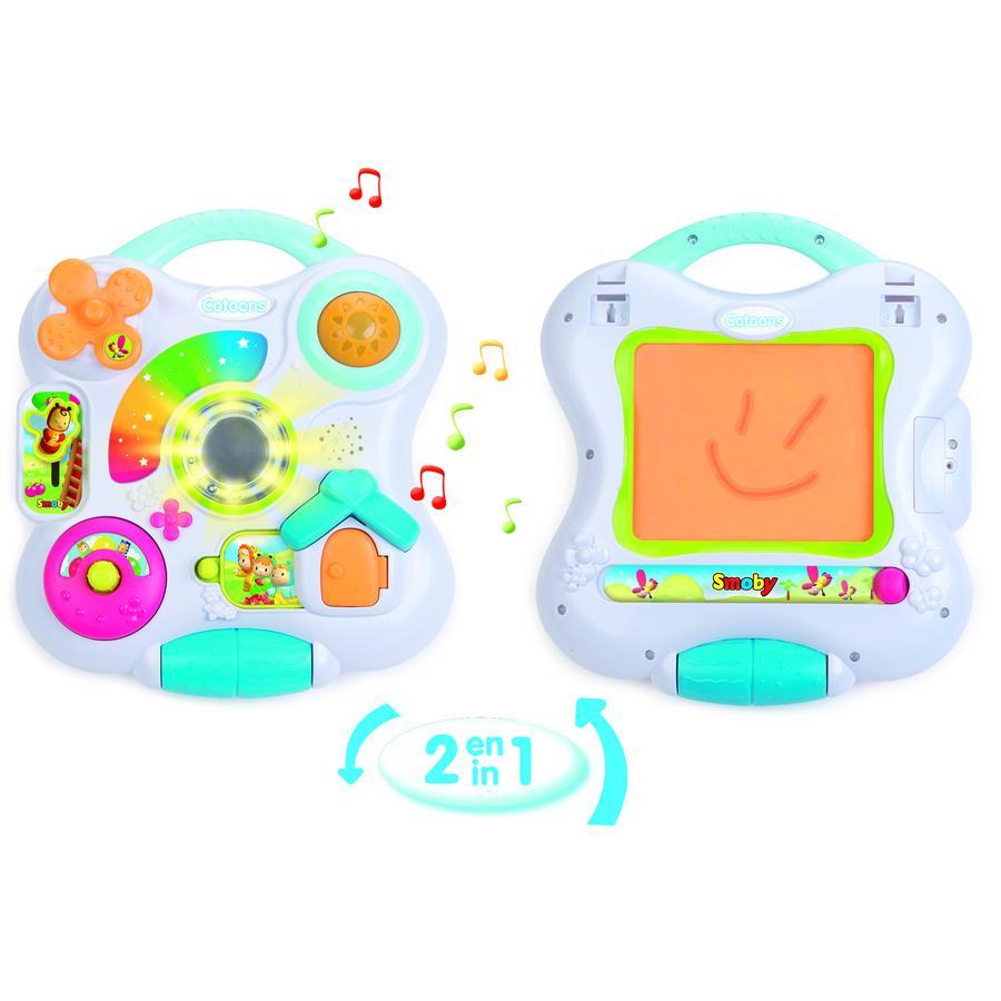 Smoby Cotoons baby hudební panel kreslící tabulka 2v1 na baterie Světlo Zvuk