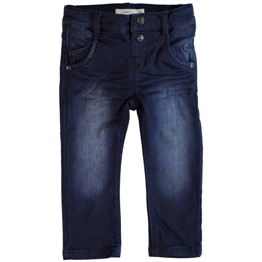 name it Boys Jeans Bandy, ciemno-błękitny denim.