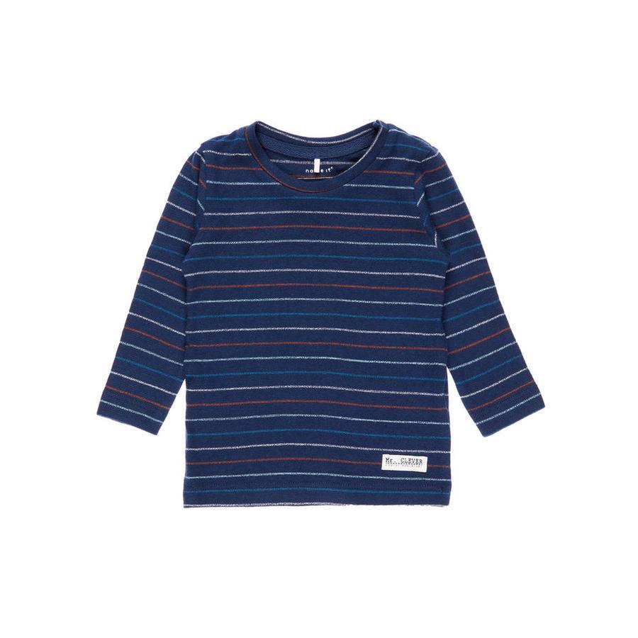 name it Boys Camisa de manga larga Vestido diotto azul