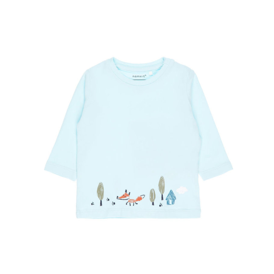name it Boys Langarmshirt corydalis blue