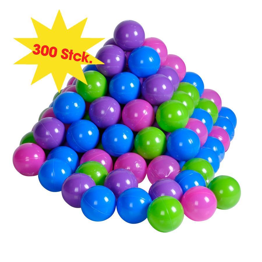 knorr® toys - sada míčků- 300 ks, softcolor