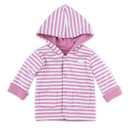 Feetje Girl s chaqueta reversible con capucha rosa mélange