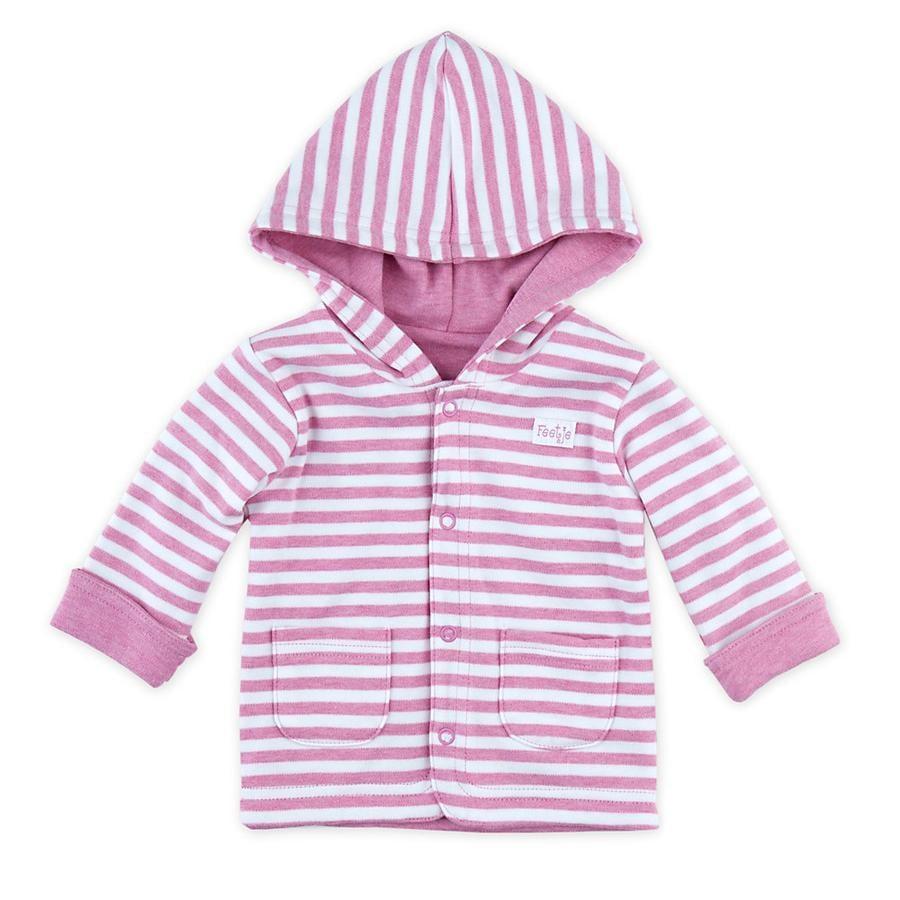Feetje Girl kurtka dwukierunkowa z kapturem w kolorze różowym melanżu