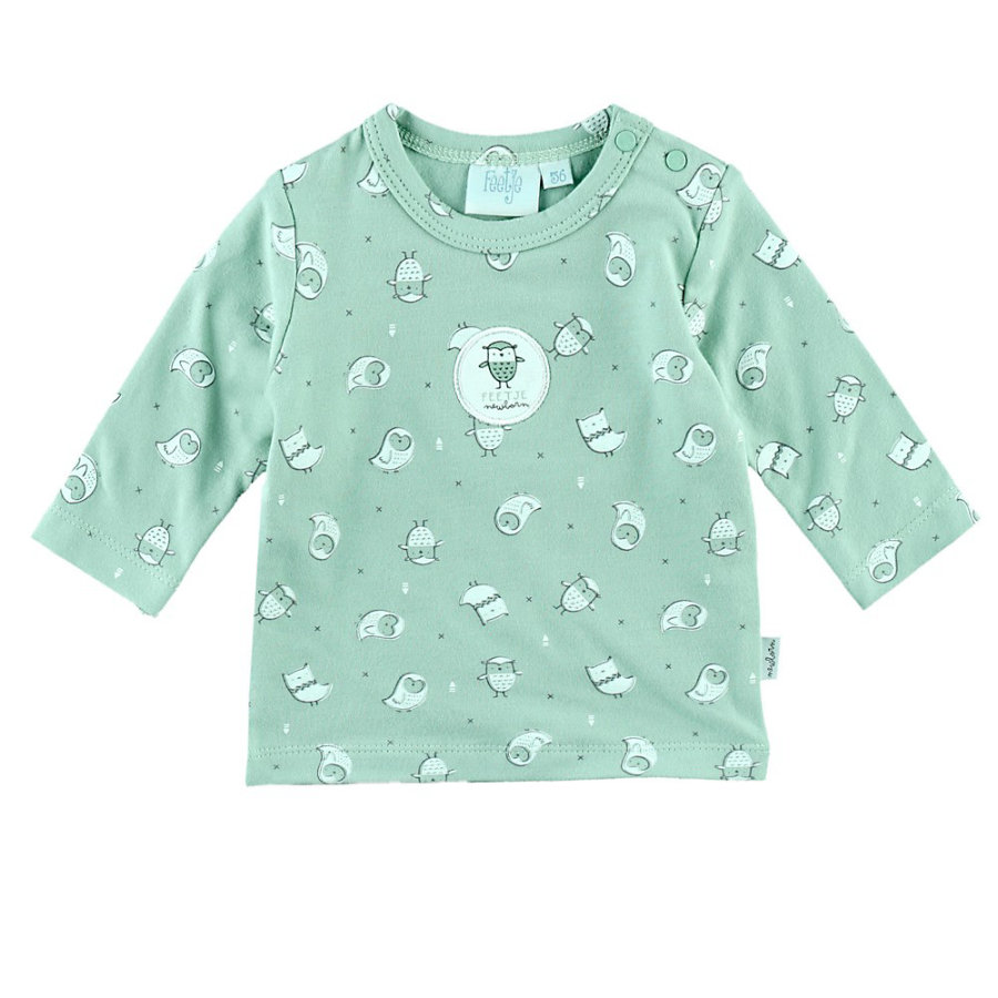 Feetje Chemise manches longues Owl Love You Mint