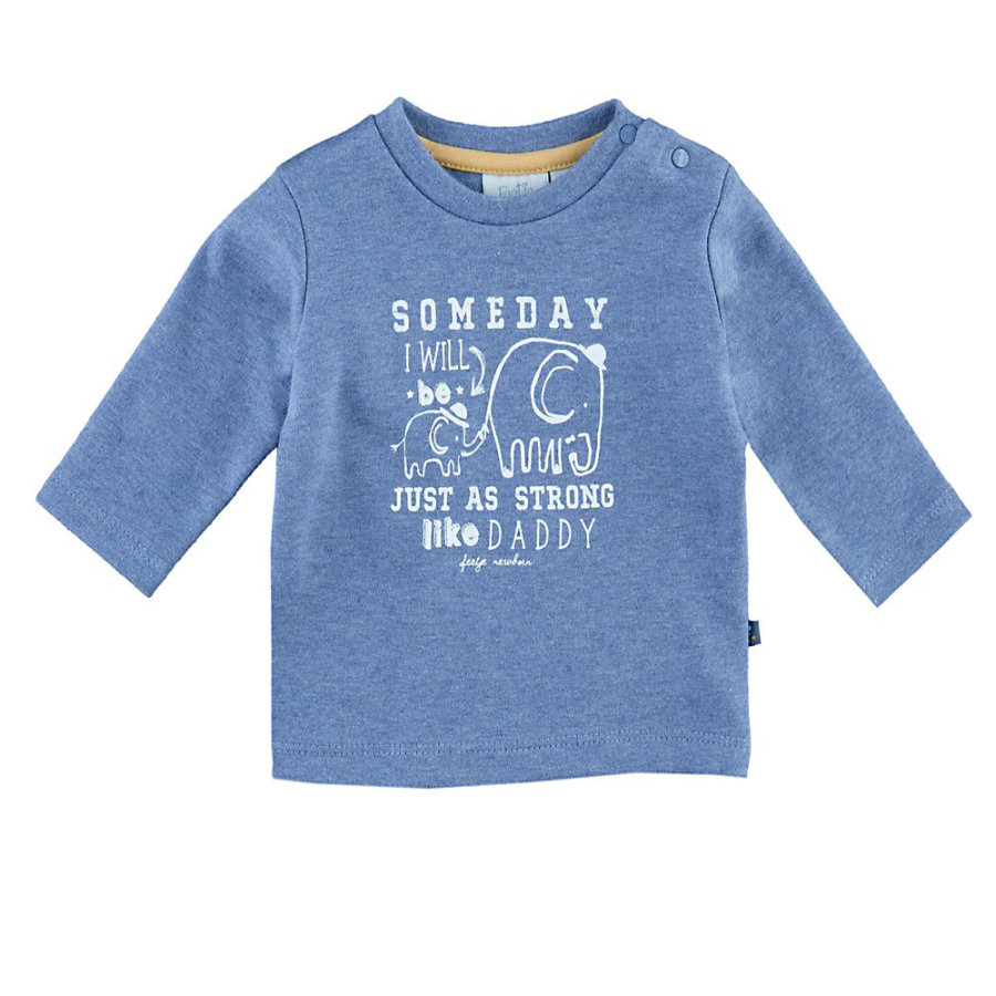 Feetje Langarmshirt Someday Elephants bluemelee