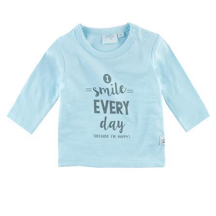 Feetje Shirt met lange mouwen Lach elke dag Happy blue