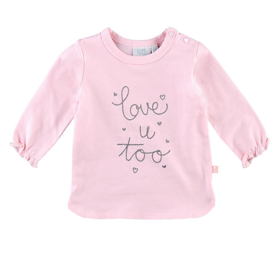 Feetje Koszula z długim rękawem Kocham Cię zbyt piękny różowy
