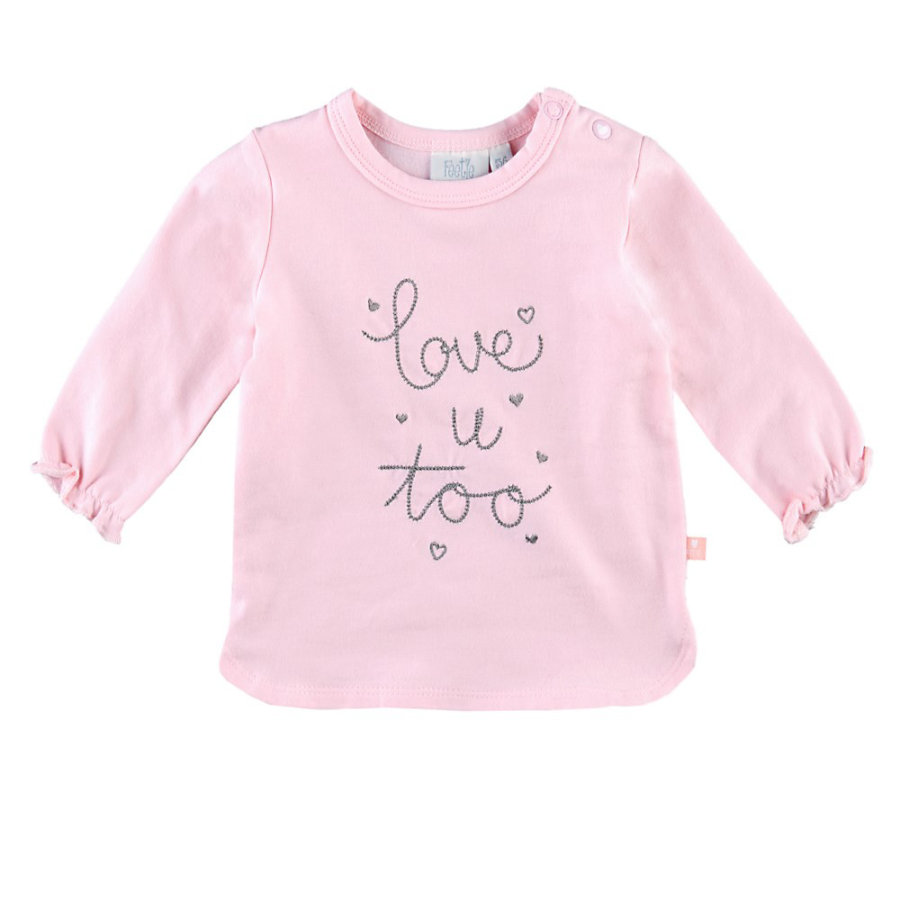 Feetje Langarmshirt Love u too Lovely rosa