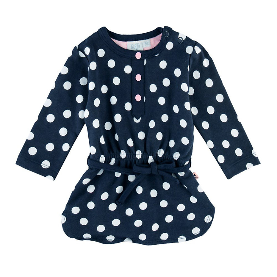 Feetje Girls Kleid Pünktchen Dots & Bows marine