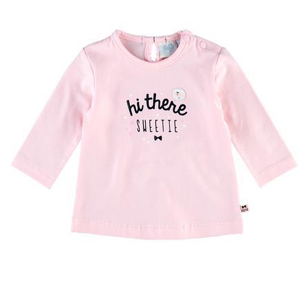 Feetje Girl s Camisa de manga larga Hi there Dots & Bows rosa