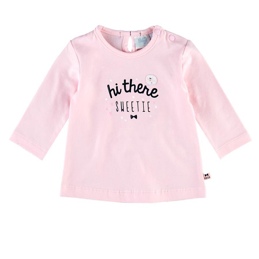 Feetje Girl s Shirt met lange mouwen Hi there Dots & Bows roze