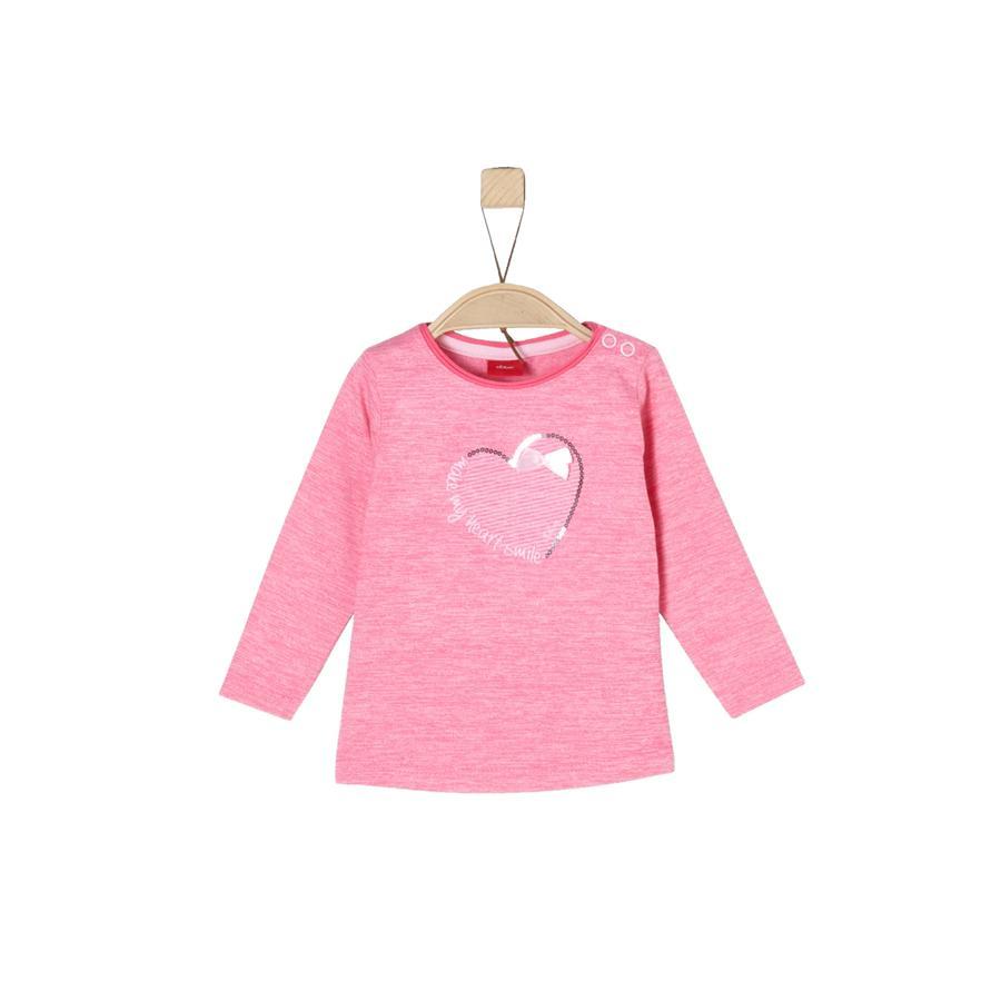 s.Oliver Girls Langarmshirt pink multicolored