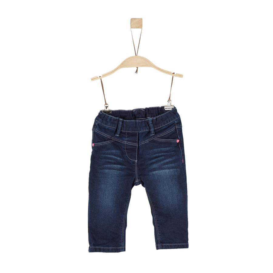 s.Oliver Girl s dżinsy ciemnoniebieskie dżinsy rozkładają się regularnie.