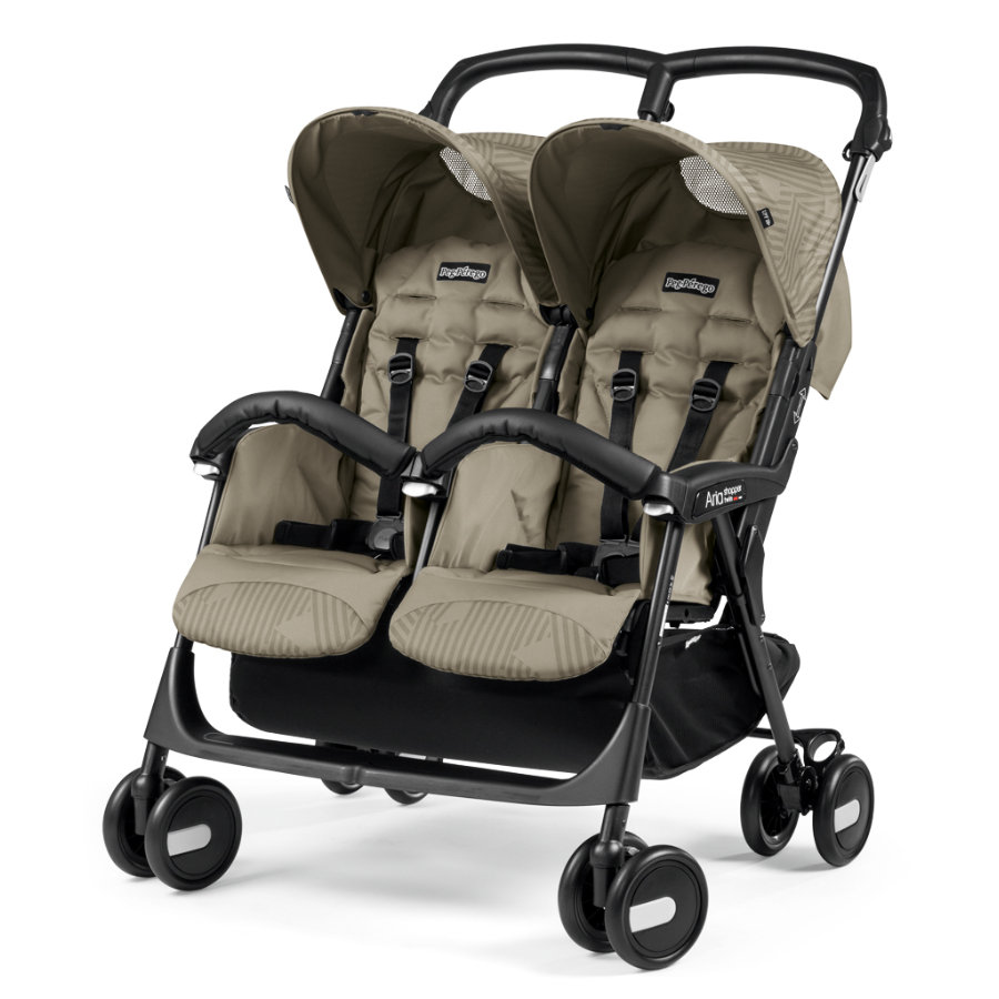 Peg-Perego Poussette double Aria Shopper Twin Geo beige