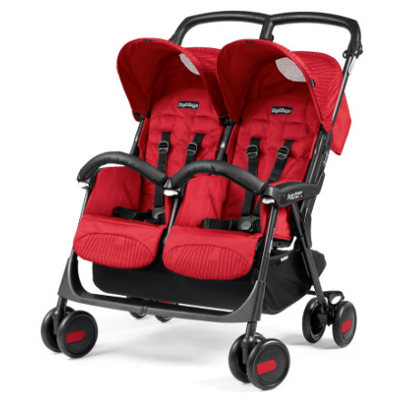 Peg-Perego Poussette double Aria Shopper Twin Geo rouge