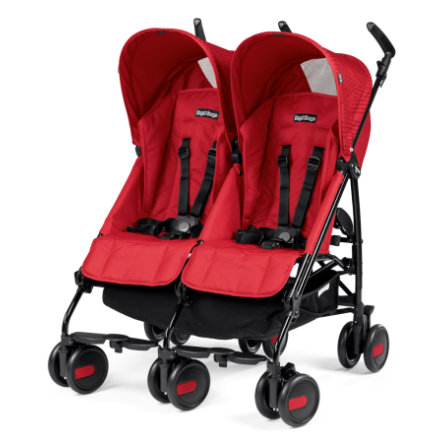 Peg-Pérego Zwillingswagen Pliko Mini Twin Geo Red