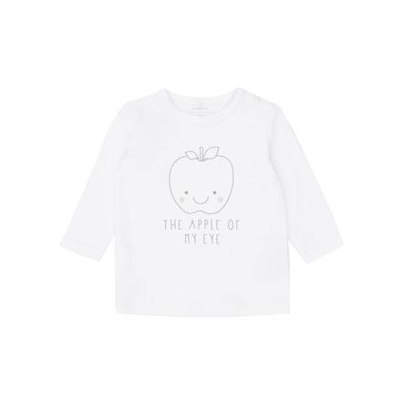 name it Camisa de manga larga Ulle blanco brillante