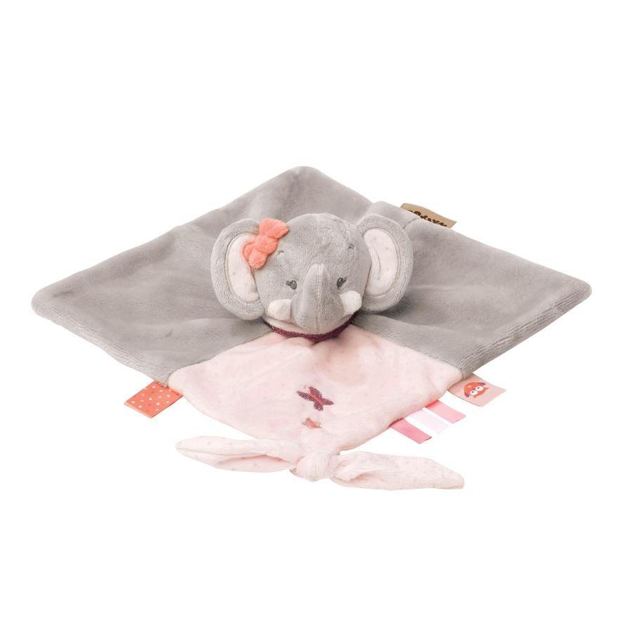 Nattou Adele & Valentine - Kuscheltuch Elefant