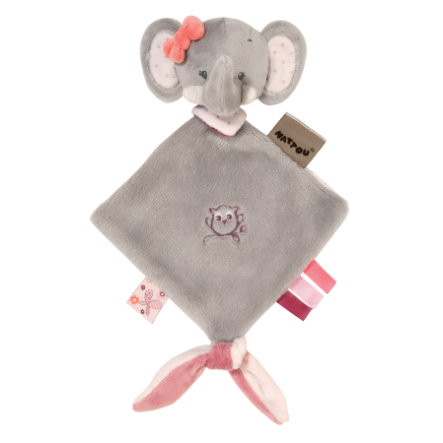 Nattou Adele & Valentine - Mini-Kuscheltuch Elefant