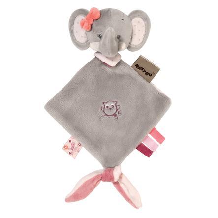 Nattou Adele & Valentine - Mini Snuttefilt Elefant