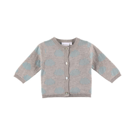 noukie Girl 's Cardigan Cocon grey and pink