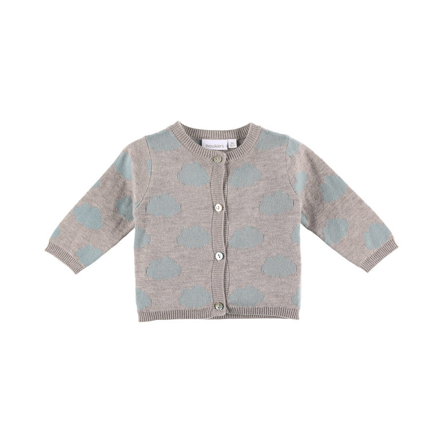 noukie´s Girls Strickjacke Cocon grey and pink