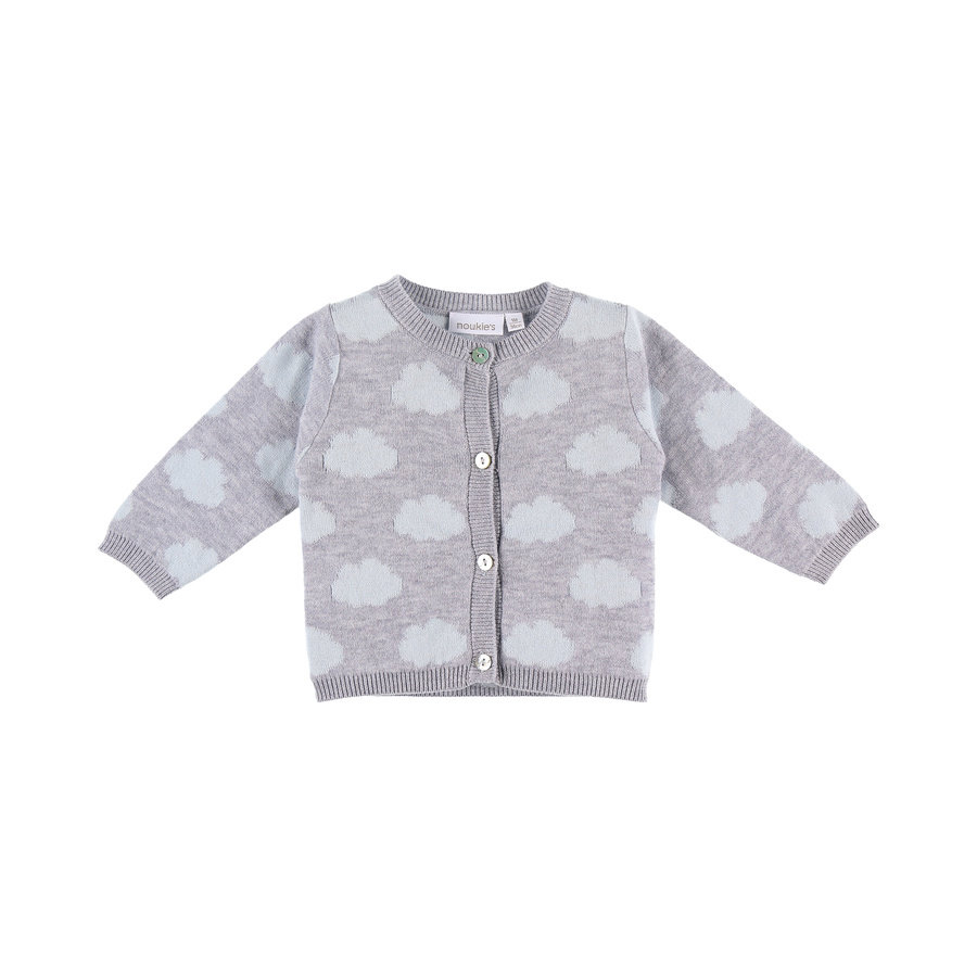 noukie´s Boys Strickjacke Cocon grey and blue