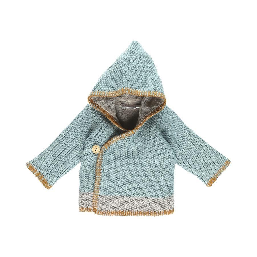 nBoys oukie´s Veste Cocon bleu et gris