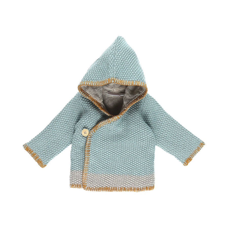 noukie Boys 's Jacket Cocon blu e grigio