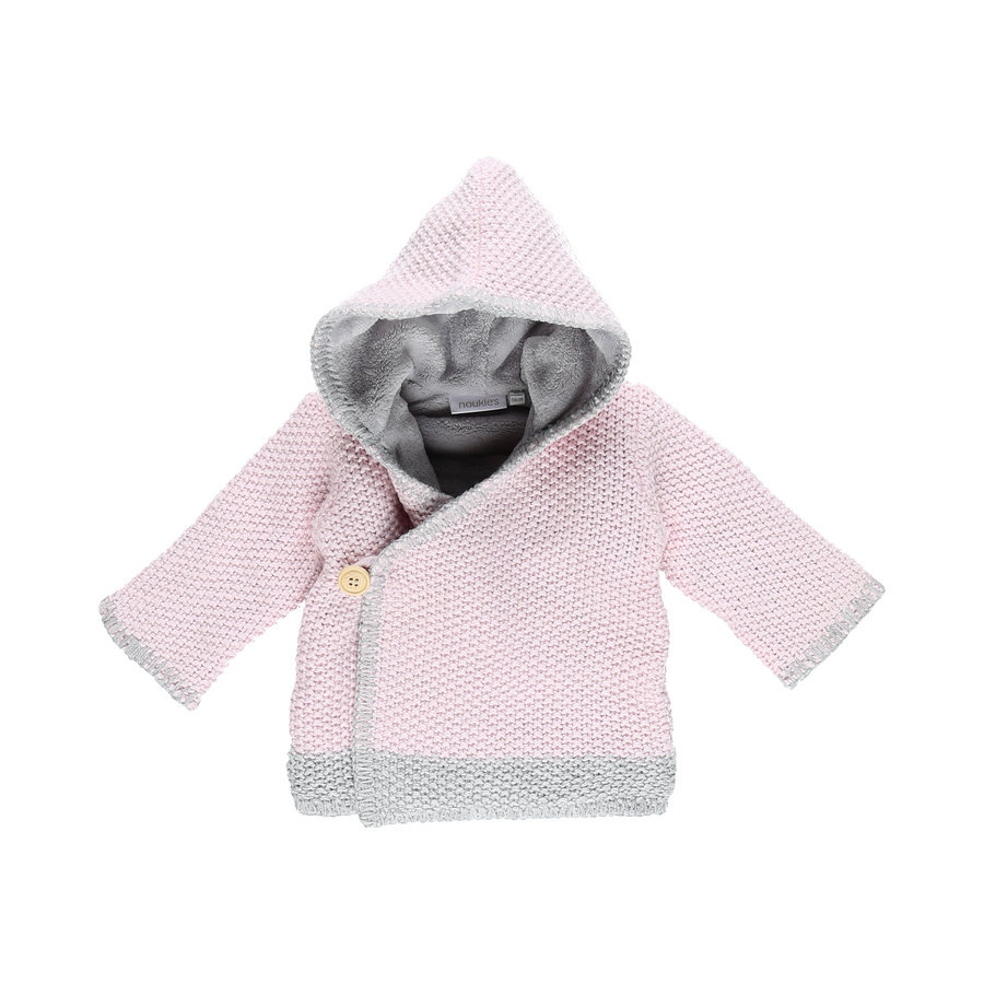 Noukie Girl 's Jacket Cocon rose and grey